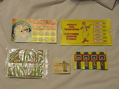 VINTAGE McDonald's Restaurant Collectibles Lot 1980-1988