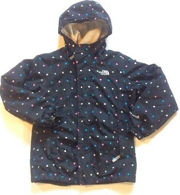 The North Face Girl's Black Polkadot Hyvent Winter Jacket Size Medium