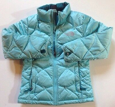 The North Face Girls Baby Green Goose Insulated 550 Winter Jacket Size M 10/12