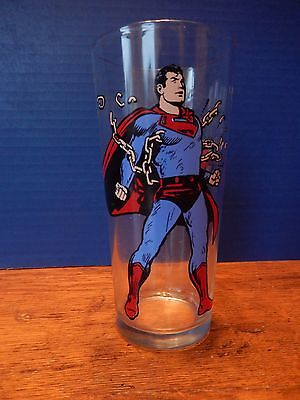1975 SUPERMAN PEPSI COLLECTOR SERIES DRINKING GLASS Bright Graphics