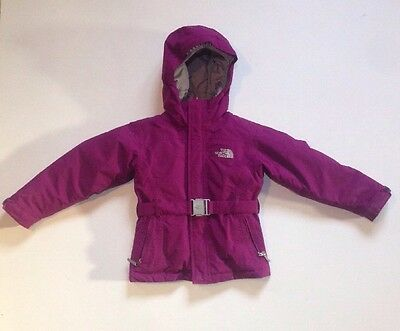 The North Face Girls Purple Hyvent Goose Insulated 550 Winter Jacket Size Xs 6