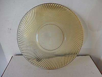 """DIANA Serving Plate Cake Depression Amber Glass 11 1/2"""" Round Platter Federal"""