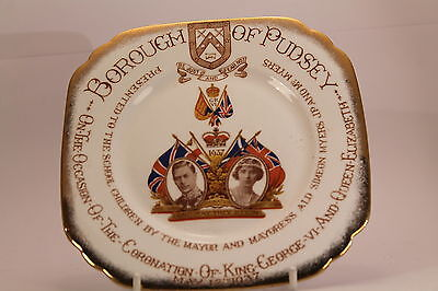 King George V Queen Elizabeth Coronation Plate Pudsey 740