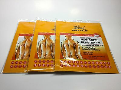 6PCS. TIGER BALM Patch Plaster Warm Medicated Relief Muscular Pain, SIZE 7x10 cm
