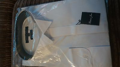 Mens White Tuxedo Shirt, by designer Richard Jones