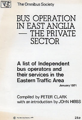 Bus Operation in East Anglia - the Private Sector