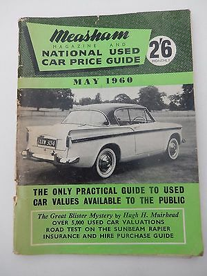 MEASHAM Magazine National Used CAR PRICE GUIDE May1960