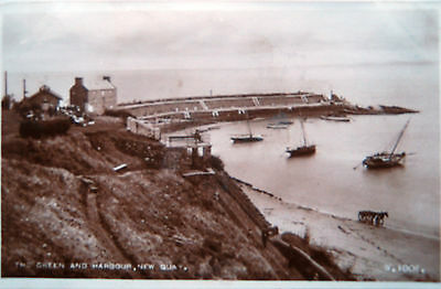 Real Photo  Postcard - The Green And Harbour, New Quay.posted 1948