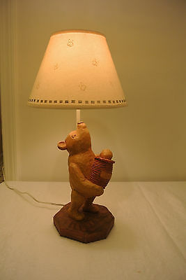 Rare Vintage Charpente Michel Classic Winnie the Pooh w/Honey Pot Lamp w/Shade