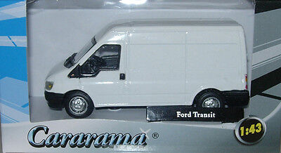 Cararama/oxford Diecast Ford Transit Van 'white' New & Boxed 1:43