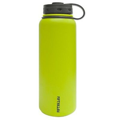 FIFTY/FIFTY Fifty/Fifty Lime Vacuum-Insulated Stainless Steel Bottle with Wide