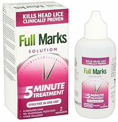 Full Marks Solution Head Lice Solution With Comb 2 Treatments 100Ml Eliminate