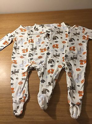 Twin Babygrows Boys Or Girls 3-6 Months