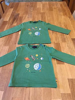 Paul Smith Junior age 18 months Green Long Sleeved  top *** TWINS ***