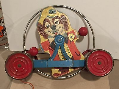 Gong Bell Circus Dogs Pull Toy