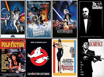 Choice of Classic Film Poster. Star Wars, Godfather, Pulp Fiction
