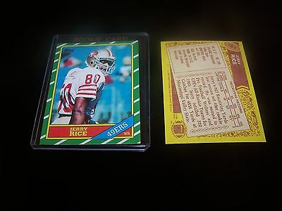 + ( Jerry Rice ) 1986 T #161 Rookie San Francisco Rp Football Card