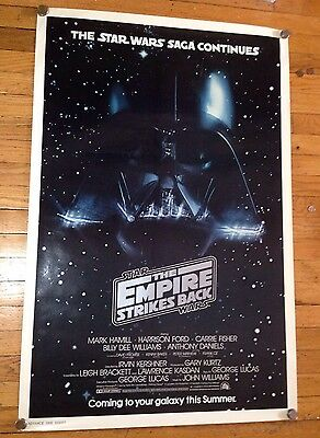 Star Wars Empire Strikes Back Original Movie Poster 1979 rolled, never folded
