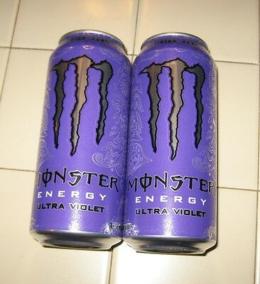 New Limited (2) MONSTER Energy ULTRA VIOLET Zero Purple 16oz Cans FREE SHIPPING!