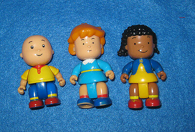 Cute Caillou Lot of 3 Poseable Figures w/ Clementine Rosie PBS