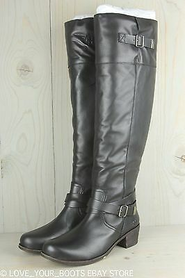 78a5063b216 NEW WOMENS UGG® BLACK BESS LEATHER BOOTS KNEE-HIGH - $181.95 | PicClick