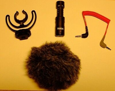 Rode Videomicro microphone and accessories