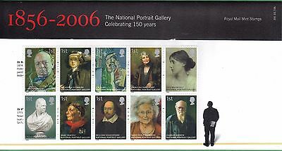 GB 2006 150th Anniversary of the National Portrait Gallery Presentation Pack 332