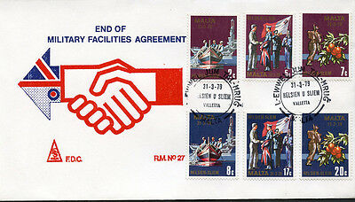 1979 End of Military Facilities Agreement First Day Cover - Ersttag