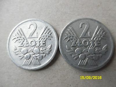 Poland Coins 2 Zlote Set Of Two, 1958
