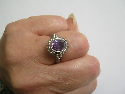 Ancienne bague  ARGENT MASSIF 925 amethyste/sterling silver ring amethyst