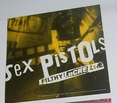 Sex Pistols 1996 Filthy Lucre Live Original Two-Sided Album Flat Poster
