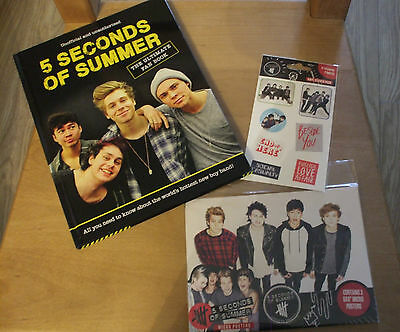 Bnwot 5 Seconds Of Summer Bundle, Fan Book, 3 Micro Posters & Stickers