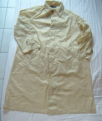 IMPERMEABLE NYLON ANCIENT 1950's  VINTAGE NYLON  RAINCOAT  -GLANZ REGENMANTEL  L