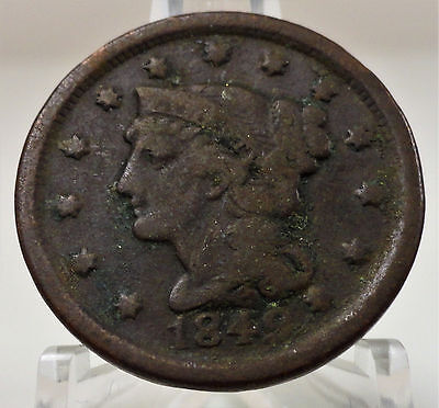 1849 Liberty braided hair large cent, #53422-150