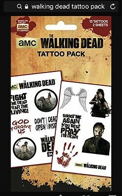 The Walking Dead Temporary Tattoo Pack