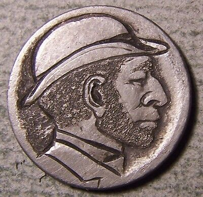 """Hobo Nickel, Engraved, Carved ,Scrimshaw,Coin Art, """" DOWNTOWN DAVE ,.. """""""