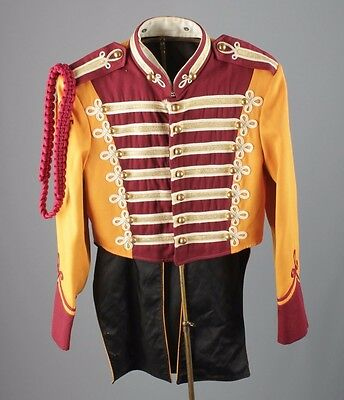 Vtg 60s Marching Band Uniform Jacket sz 36 1960s #2465 Sgt Peppers Brass Buttons