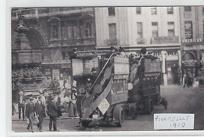 A22: London General Buses Piccadilly 1905 Photograph