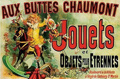 Jouets FRIENDS TV SERIES Poster Vintage Advertising French Print Wall Art Large