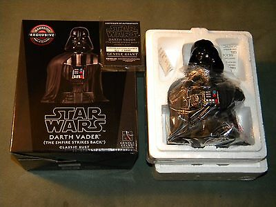 Star Wars Darth Vader Classic Bust The Empire Strikes Back Gentle Giant , NEW