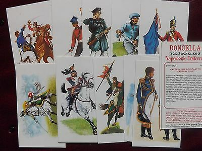 NAPOLEONIC UNIFORMS - Complete Set of 24  - Players Doncella - EX