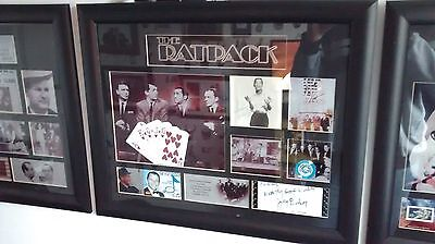 Unique Rat Pack Signed Autograph Framed Actual Owned Worn Montage Sinatra Vegas
