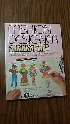 Rare Vintage Colorforms Fashion Designer Shrinky Dinks 1981 MIB sealed