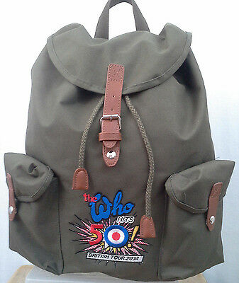 The Who 50 Hits - British Tour - Official Merchandise - Canvas Backpack Rucksack