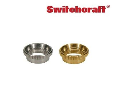 Switchcraft Deep Knurled Nut for Toggle Switches (Nickel or Gold)