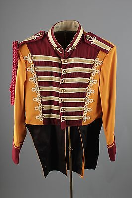 Vtg 60s Marching Band Sgt Peppers Uniform Jacket sz 36 1960s Brass Buttons #2467