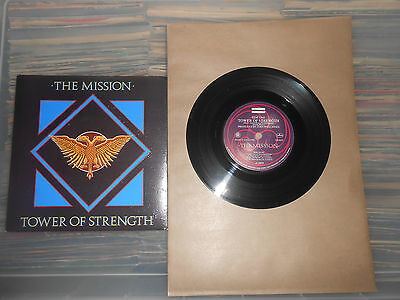 THE MISSION   TOWER OF STRENGTH  EMBOSSED COVER   7inch VINYL