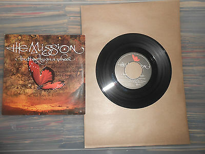 THE MISSION   BUTTERFLY ON A WHEEL    7inch VINYL