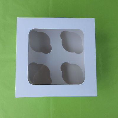 Window cupcake boxes 4 cup cases x 17