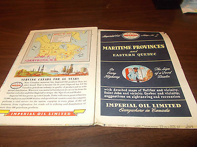1947 Imperial Oil Maritime Provinces/Eastern Quebec Vintage Road Map